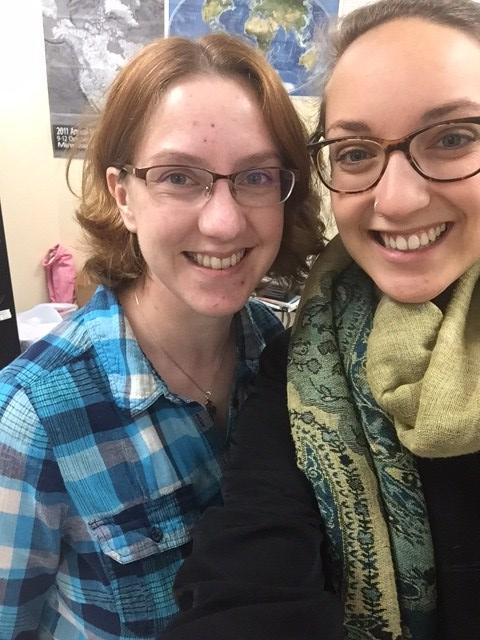 Dr. Caroline Burberry and Emily Hergenrader