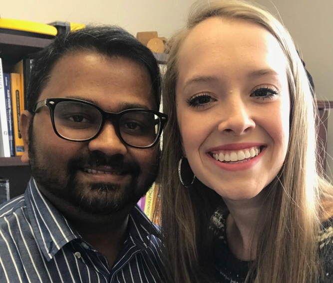 Dr. Santosh Pitla and Rylie Kabl